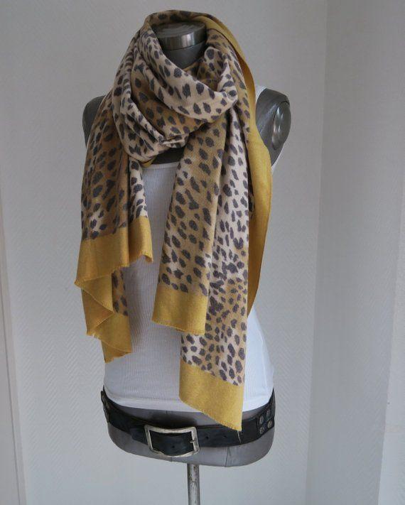 Genieße am niedrigsten Preis suche nach echtem am besten bewerteten neuesten Scarf, Leo scarf, animal pattern scarf, scarf leopard ...