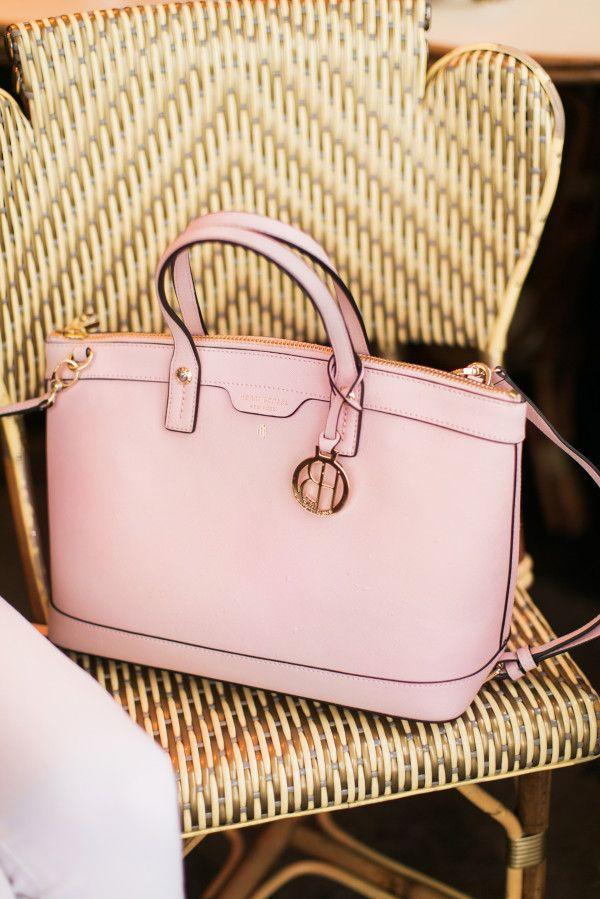 henri bendel blush pink handbag spring
