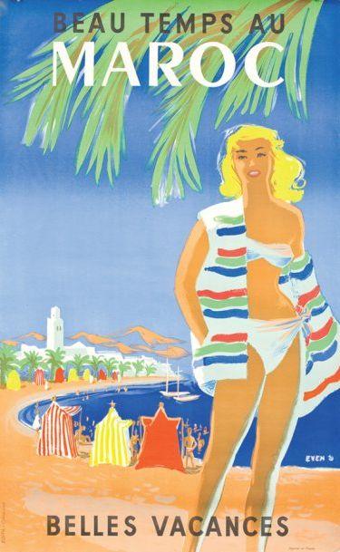 By H. Delval  J. Even, 1956, Beau temps au Maroc, Casablanca. - Maroc Désert Expérience tours http://www.marocdesertexperience.com