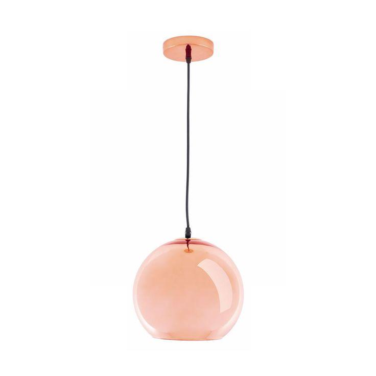 Glass Pendant Lamp in Copper