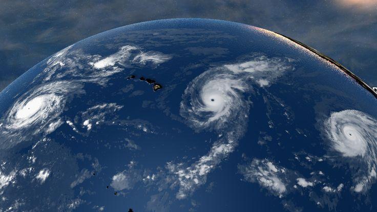 Pela primeira vez na história, três furacões de grau 4 ao mesmo tempo no Pacífico - ZAP