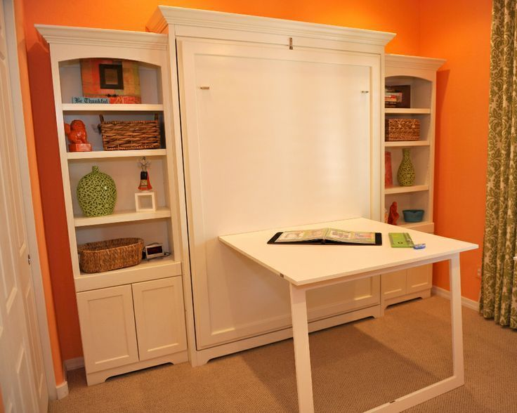 Murphy Bed with Desk   Murphy bed / Craft space for spare room ...