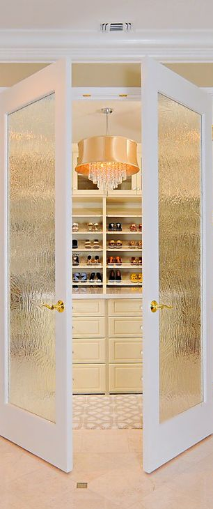 Double doors in front of the closet or bathroom!