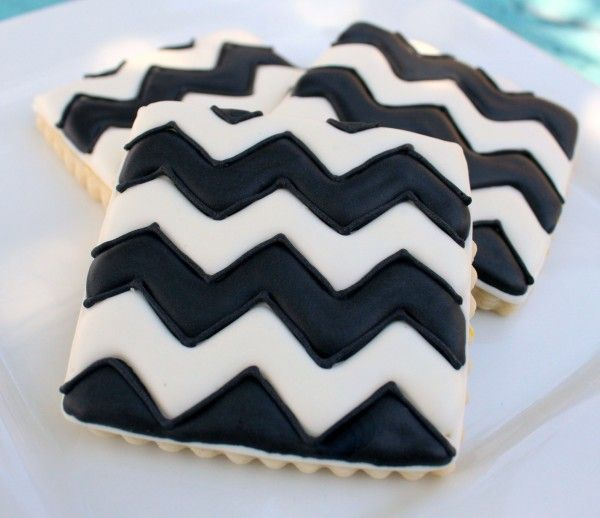 Pinterest Cookie-d {Chevron Cookies} - this is a little meta, no?