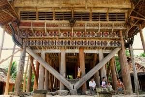 Omo Sebua (Rumah Adat Nias),  traditional house in Nias, North Sumatra, Indonesia
