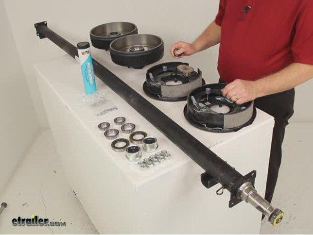 "Dexter Trailer Axle w/ Electric Brakes - EZ-Lube - 5 on 4-1/2 Bolt Pattern - 89"" - 3,500 lbs Dexter Trailer Axles 35545E-ST-EZ-89"