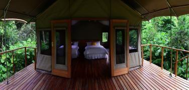 Ecuador Galapagos Hotels Scalesia Lodge tent