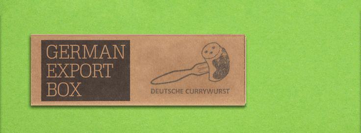 German Export Box - sausages currywurst ;) a typical german souvenir