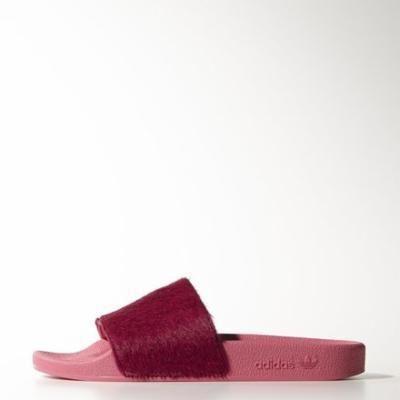 adidas adilette Luxe Sandals 5 Solar Pink / Solar Pink / Solar Pink #sandals #adidas #covetme