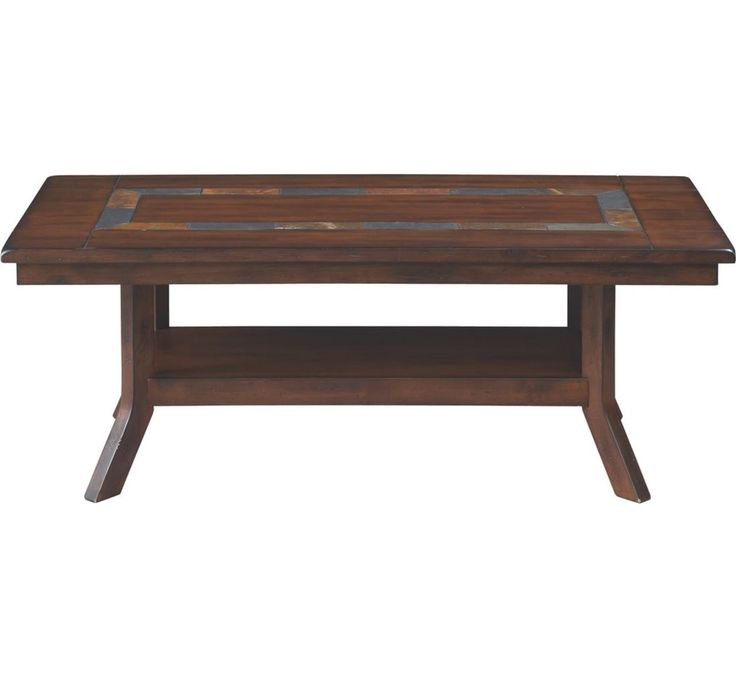 This detailed transitional coffee table is craf...
