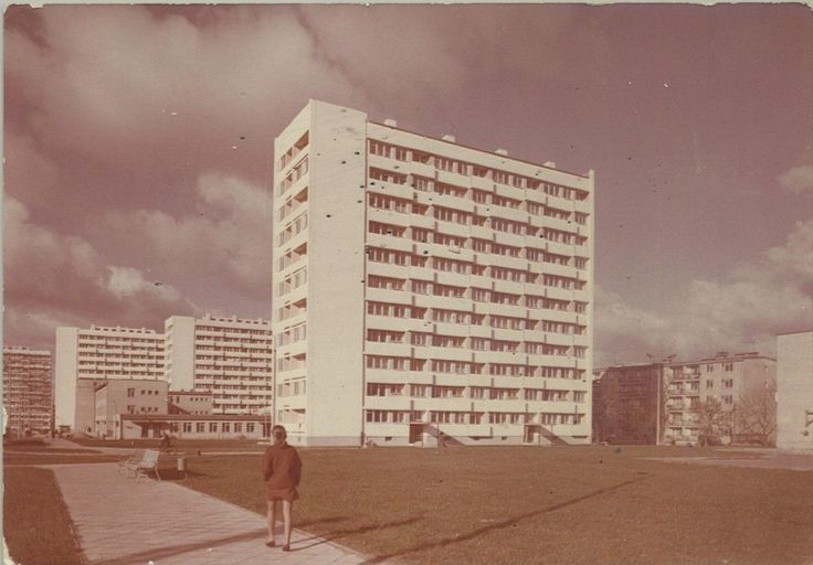 Typical block of flats, Puławy in the 80s.