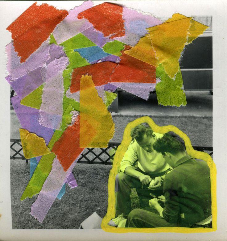 Foto Di Uomini Vintage Decorata Con Washi Tape Multicolore