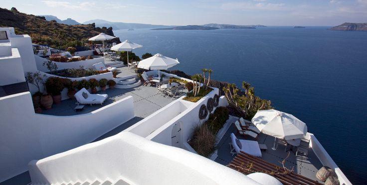 Santorini Luxury Hotel, Ikies Traditional Houses Oia (Ia) Santorini, Cycladic Islands, Greece.