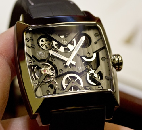 The Monaco V4 in titanium.: Wraps Bracelets, Monaco V4 Titanium, Tagheuer, Style, Men Fashion, Monaco V4Titanium, Tags Heuer Monaco, Tag Heuer Monaco, Men Watches