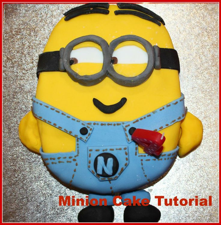 Really easy  minion cake