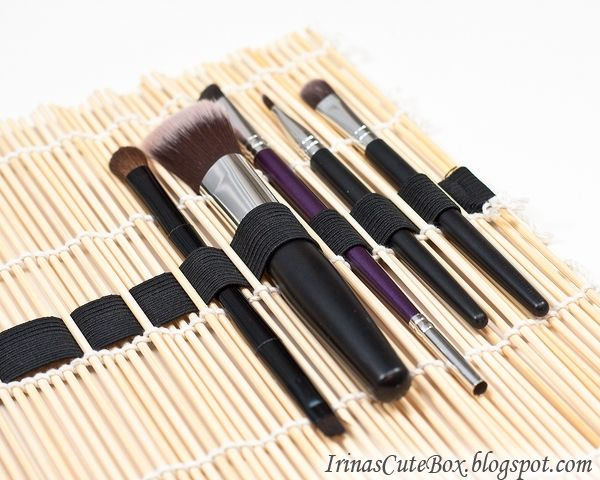 Органайзер кистей из коврика для изготовления суши (diy) / Организованное хранение / Модный сайт о стильной переделке одежды и интерьера