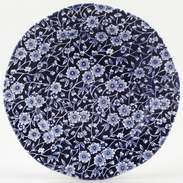 Burleigh Dark Blue Calico Side or Cheese Plate 17cm x1 (discontinued)