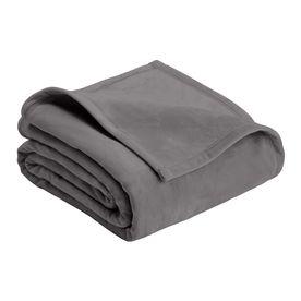 Vellux By Westpoint Home Micro Mink Tornado Grey 108-In L X 90-In W Polyester Blanket C106247