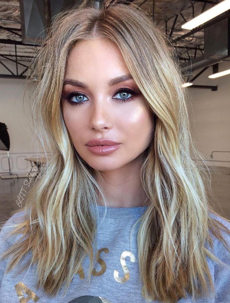 Pinterest: DEBORAHPRAHA ♥️ Summer glowy highlighted makeup look