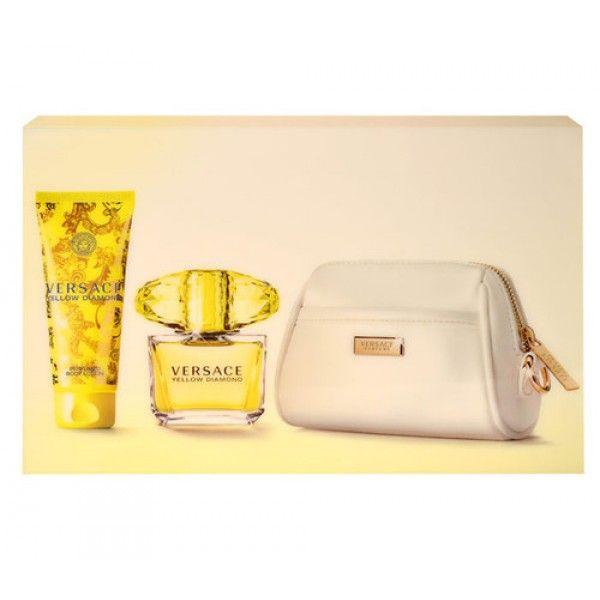 Versace Yellow Diamond 90ml Edt 90ml + 100ml Body lotion + Cosmetic bag For Women Brand: Versace Product Code: Eau de Toilette Price : 58.36€ #Cosmeticbag #Womenprofumino