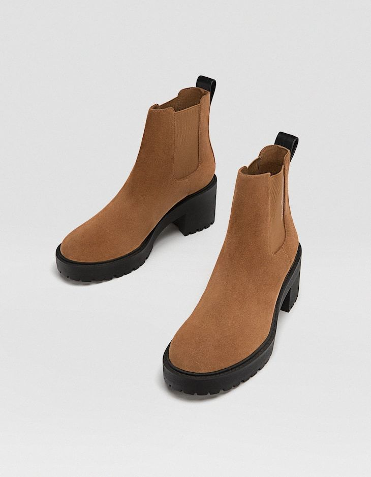 4df7bb5d881 Faux leather ankle boots with track soles - JUST IN | Stradivarius ...