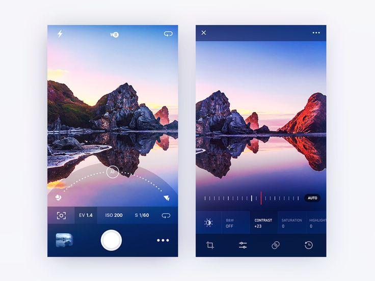 Camera focus and photo edit screen exploration by Gleb Kuznetsov #Design Popular #Dribbble #shots