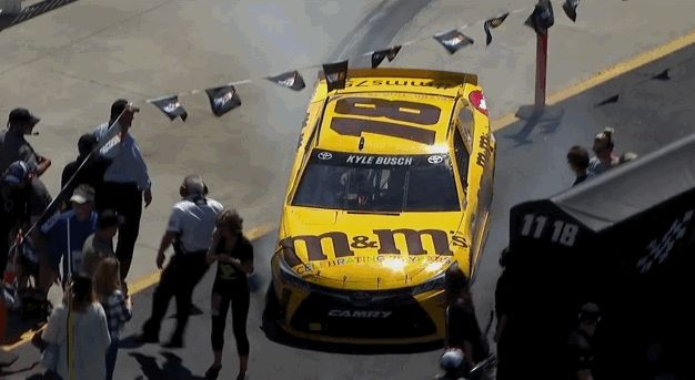 Woman hit by Kyle Busch car visits hospital As the NASCAR driver slowly slid his hobbled car to a stop in the infield, it clipped Erin Vandyke in the back of the leg.Who was to blame? »