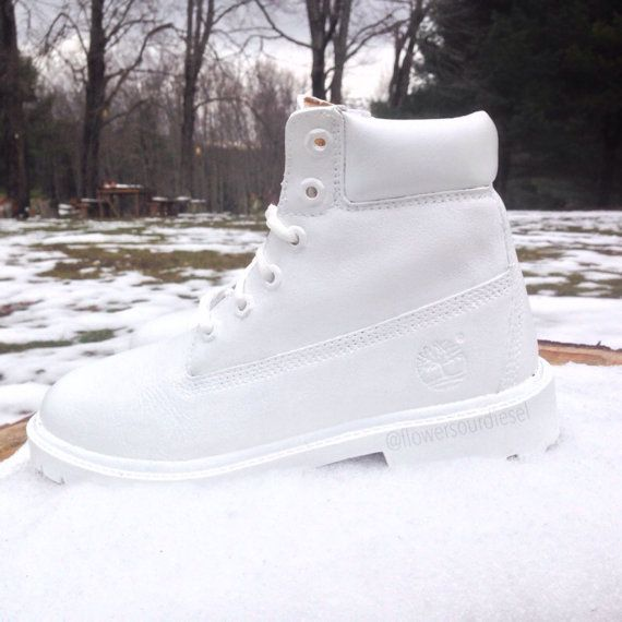 White Timberland Boots Womens sizes by FlowerSourDiesel on Etsy
