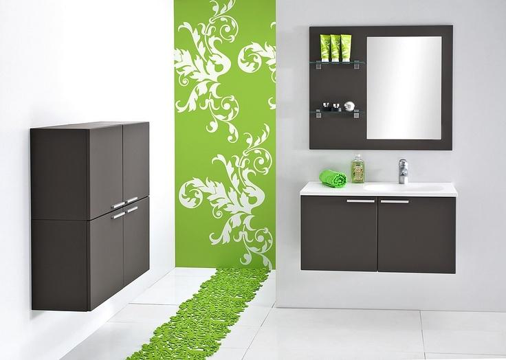 Olive-grey KTS bathroom furniture / łazienka #bathroom #furniture #washbasin #minimalist #contemporary #grey
