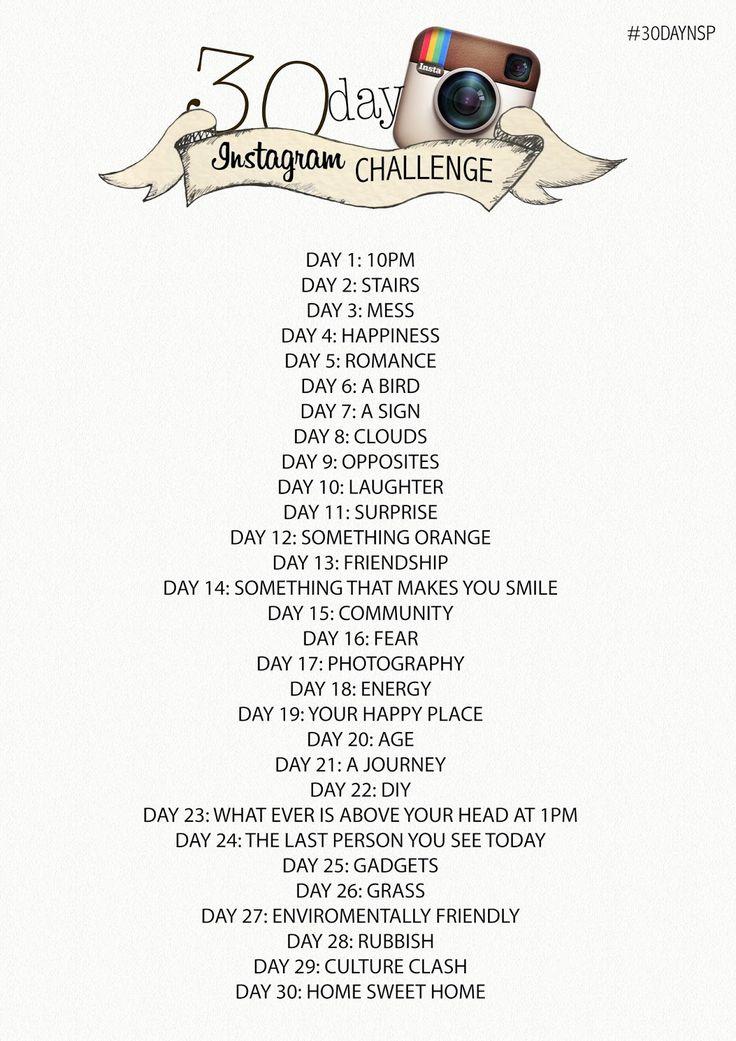 30 Day Instagram Photo Challenge