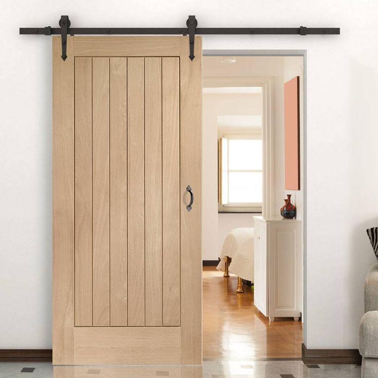 Thruslide Traditional Suffolk Oak Sliding Door - Lifestyle Image.    #barnstyledoor #oakdoor