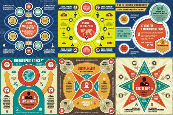 Infographic Concept - 6 Vectors by serkorkin on @creativemarket infographic template word infographic template powerpoint free editable infographic templates infographic template psd infographic template illustrator infographic timeline template infographic template google docs infographic generator