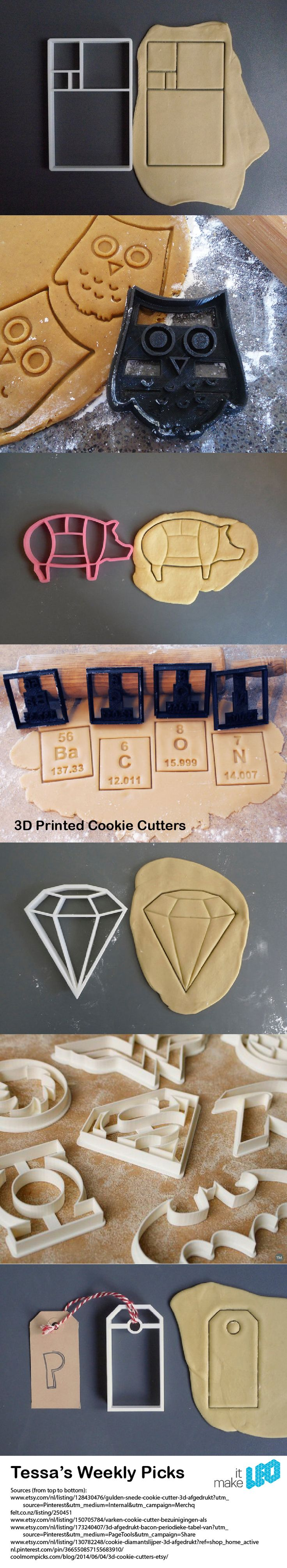 Tessa's Weekly Picks – 3D Printed Cookie Cutters.                                                                                                                                                                                 More