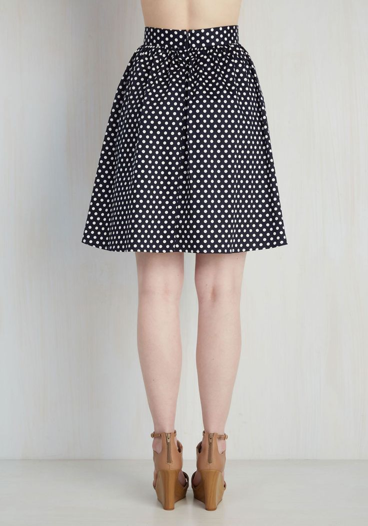 Lively Lifestyle Skirt in Navy | Mod Retro Vintage Skirts | ModCloth.com