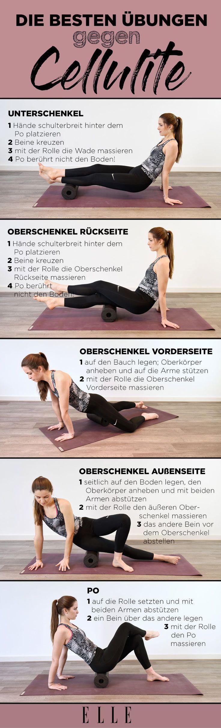 Faszienrollen-Übungen gegen Cellulite – ELLE Germany