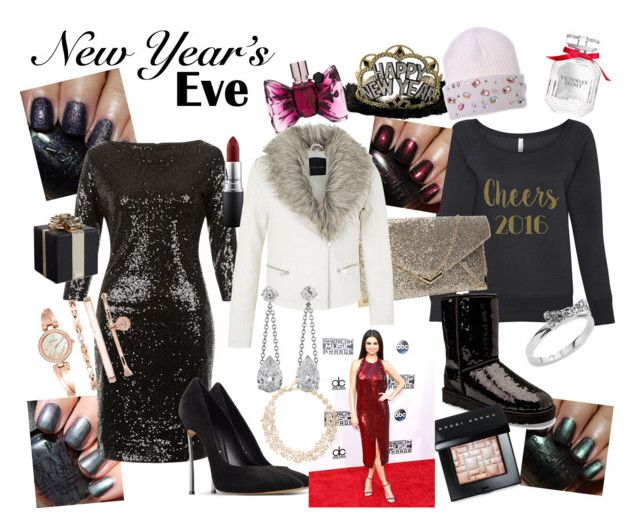 """New Year's Eve outfit idea"" by thcleanelegance on Polyvore featuring Victoria's Secret, Viktor & Rolf, OPI, UGG Australia, Amalie & Amber, Casadei, Anne Klein, Kate Spade, Bobbi Brown Cosmetics and MAC Cosmetics"