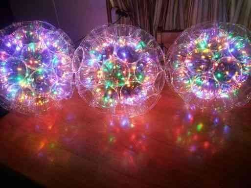 Fascinante bola de luz com pisca de led para o natal - passo a passo