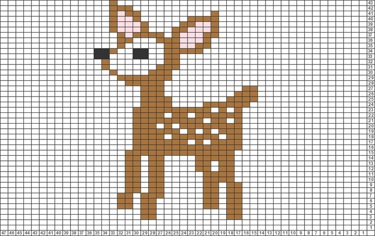 Tricksy Knitter Charts: Bambi (71245) by Granny D