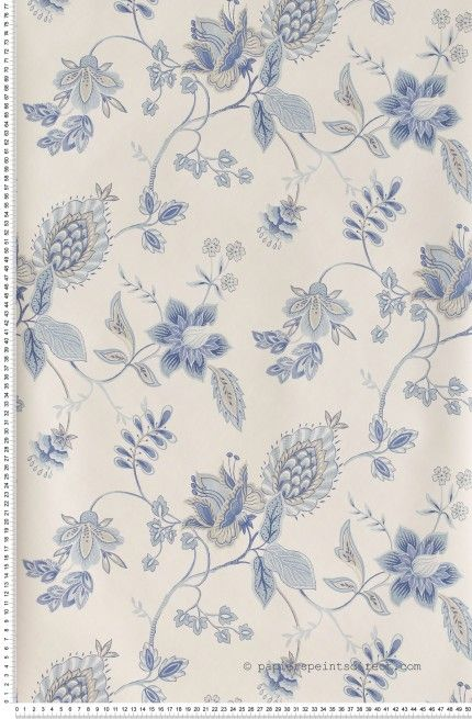 fleurs bleues sur fond blanc papier peint lut ce wallpaper blue classic http www. Black Bedroom Furniture Sets. Home Design Ideas