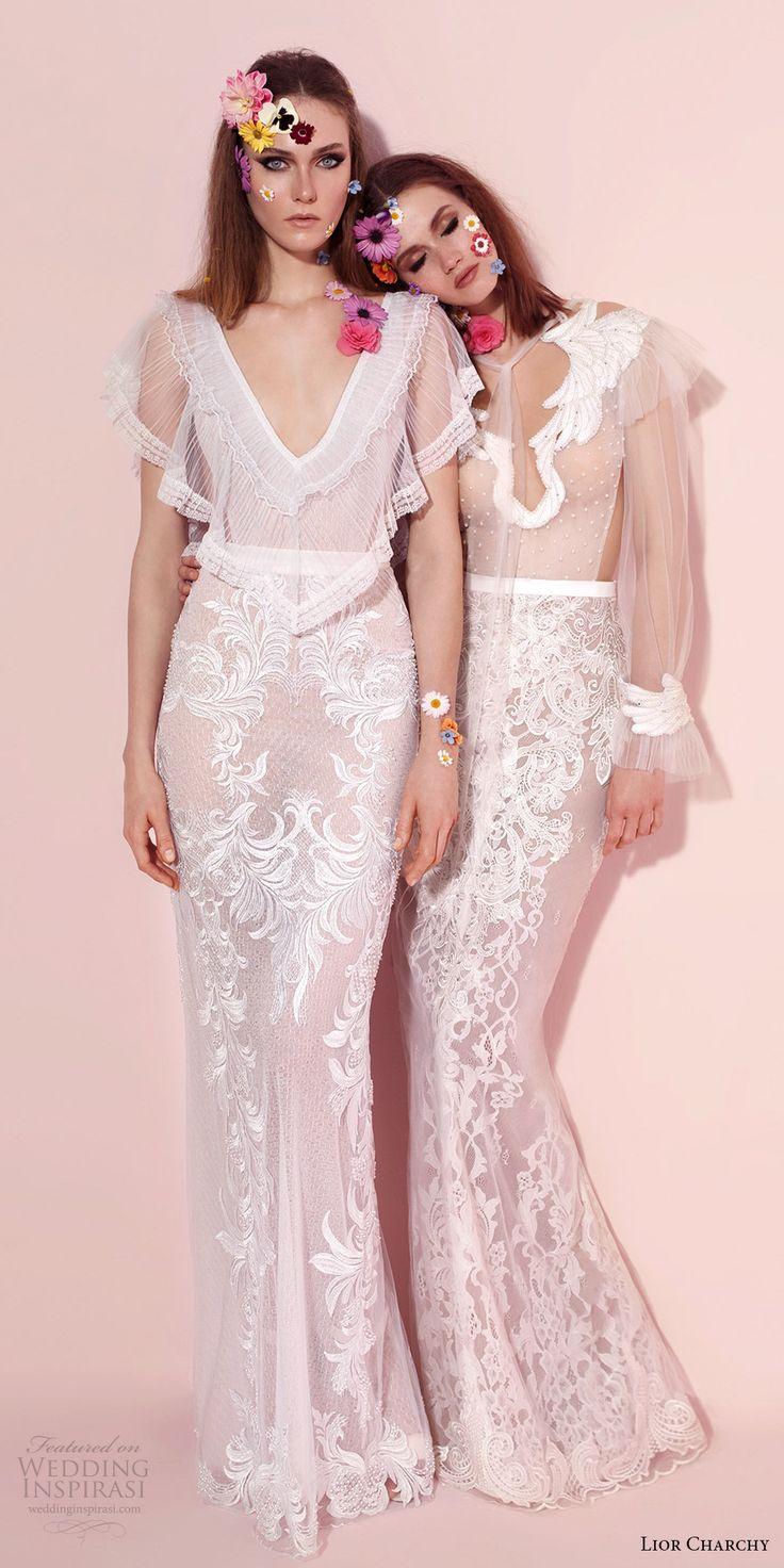 lior charchy spring 2017 bridal sheath wedding dress gown   -- Lior Charchy Spring 2017 Wedding Dresses