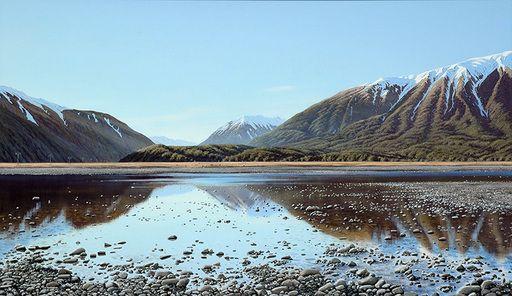 Towards Arthur's Pass ......artist Peter Geen