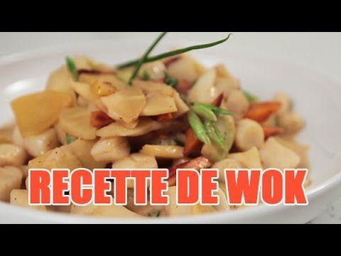 Recette au Wok : sauté de pétoncles à la fève tonka et légumes | Le blog du chef à domicile par invite1chef.com