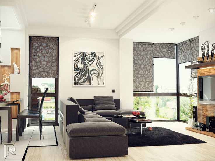 Easy Living Room Ideas With Black And White Combo