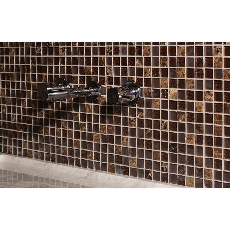 decor8 tiles 300 x 300 x 8mm choc mix marble mosaic tile
