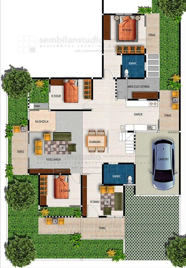 Pin Oleh Mohammed Ali Di Small House To Build Denah Rumah House Blueprints Rumah