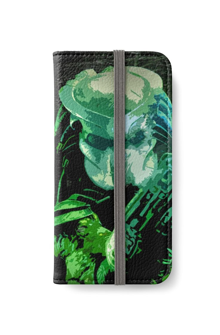 Predator Movie Poster iPhone Wallet by scardesign11 #iPhone #iphonewallet #buyphonewallet #buygifts #gifts #summergifts #redbubble #giftsforhim #predatormovie #predatormoviegifts
