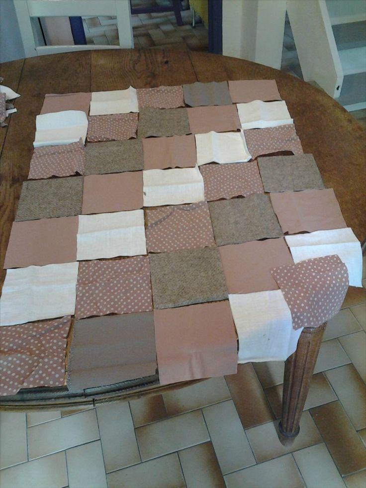 Tuto Plaid / Couverture Bébé Patchwork Molletonée - L'étoffe de Palily