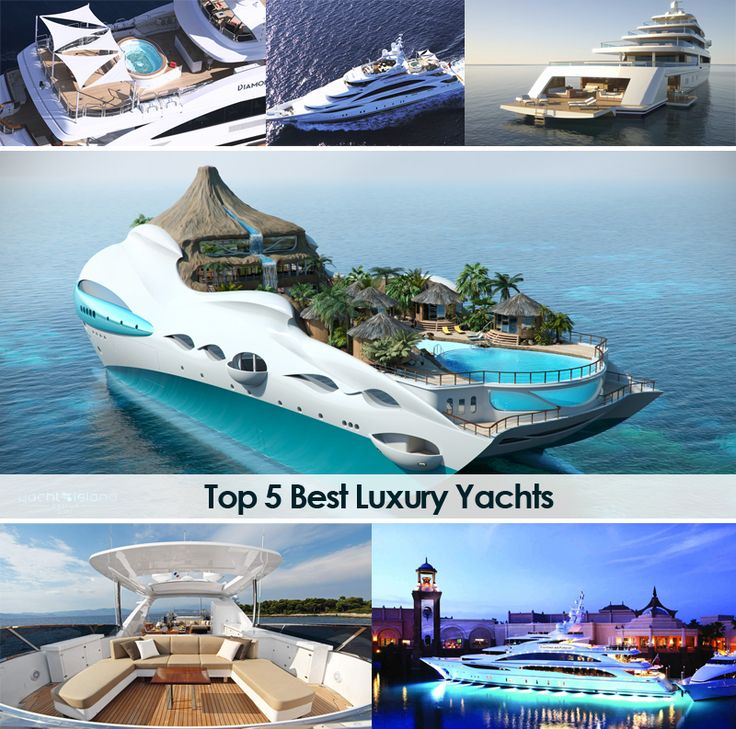 """Top 5 Best Luxury Yachts Presented on DesignRulz.  I would not choose to live a life where I """"wanted for nothing,"""" but I find these yachts pretty impressive vessels."""