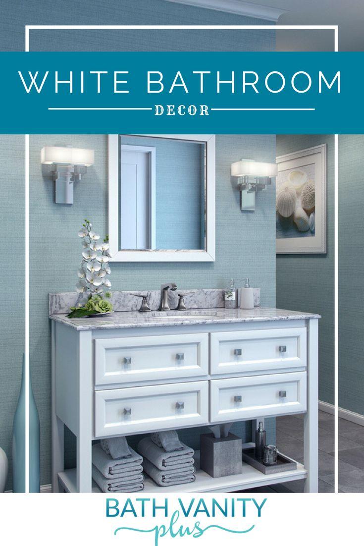 30 best White Bathroom Decor images on Pinterest | Bath vanities ...