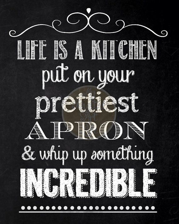 Digital Chalkboard - Kitchen Food Quote